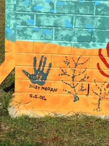Hand signature of Digby Moran - Local Aboriginal Artist